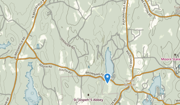 trail locations for Oakham State Forest