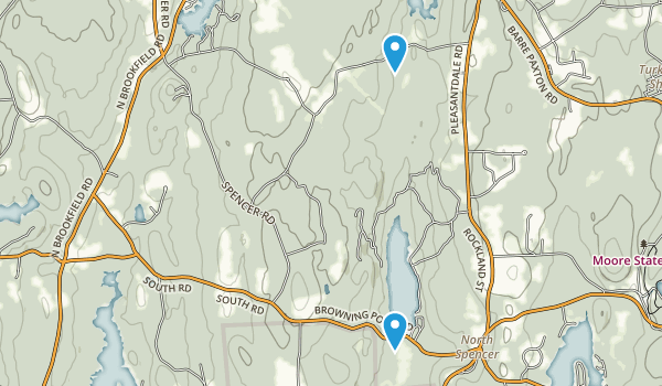 Oakham State Forest Map
