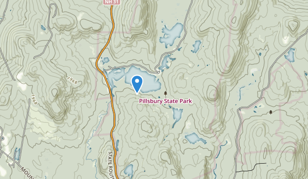 trail locations for Pillsbury State Forest