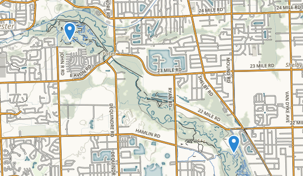 Rochester/Utica State Rec Area Map