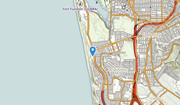 trail locations for Thornton State Beach