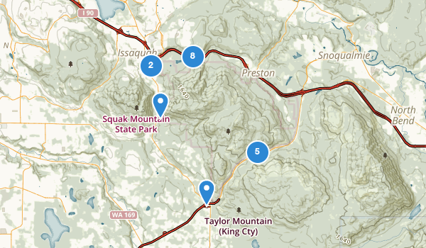 trail locations for Tiger Mountain State Forest