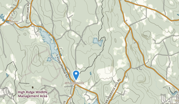 trail locations for Westminister State Forest