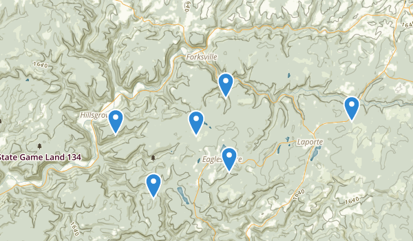 trail locations for Wyoming State Forest