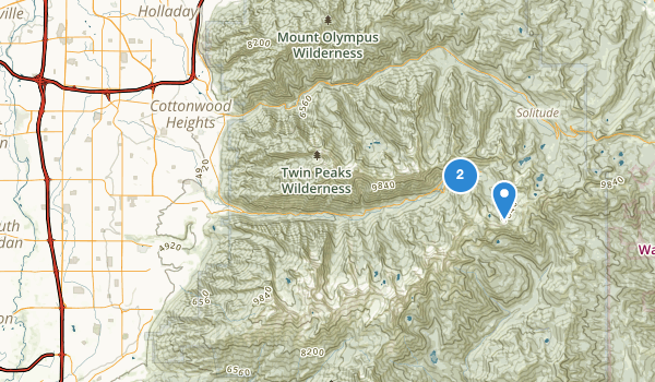trail locations for Alta Canyon Park