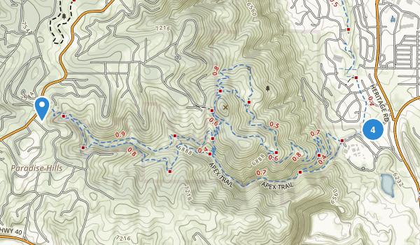 Apex Open Space Park Map