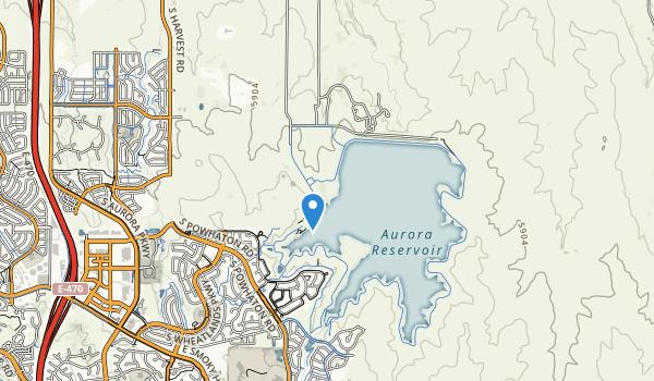 trail locations for Aurora Reservoir Recreation A