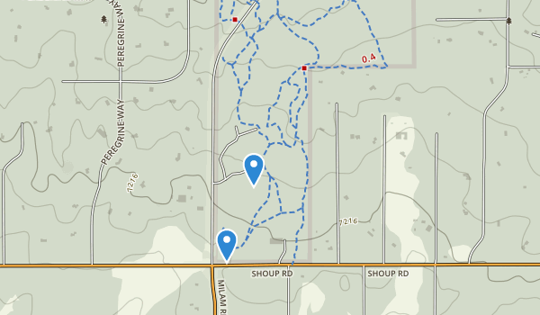 trail locations for Black Forest Regional Park