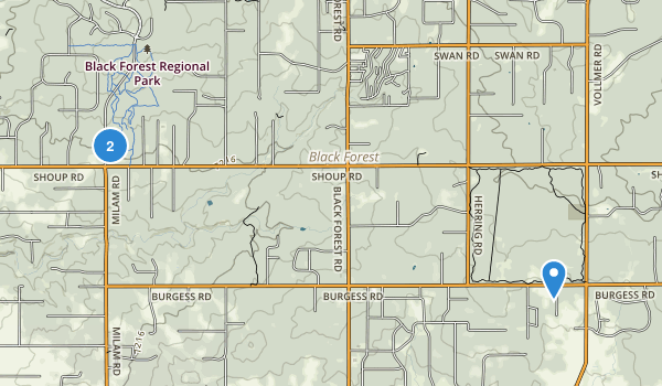 Black Forest Regional Park Map