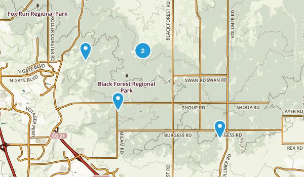 Black Forest Regional Park Map