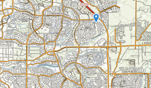 Cottonwood Creek Park Map