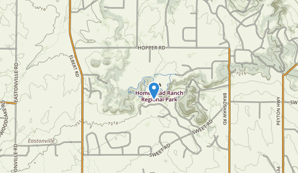 trail locations for Homestead Ranch Park