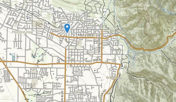 trail locations for Oak Lawn Park
