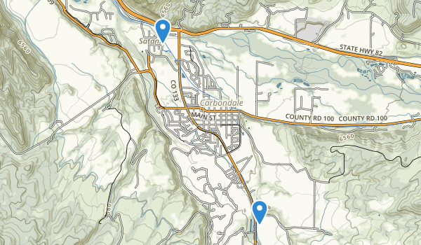 trail locations for Sopris Park