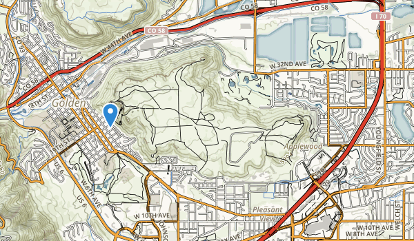 trail locations for South Table Mountain Park