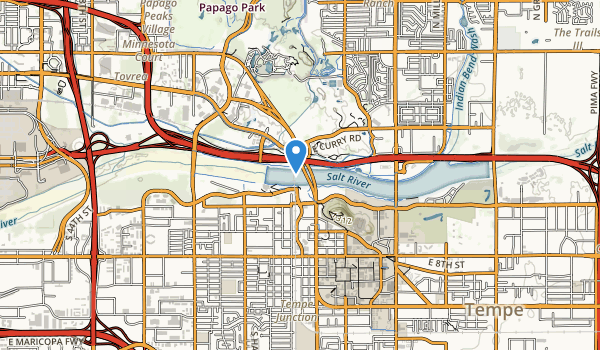 trail locations for Tempe Beach Park