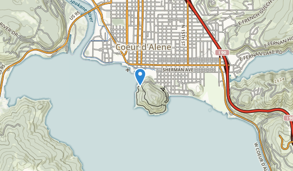 trail locations for Tubbs Hill Park