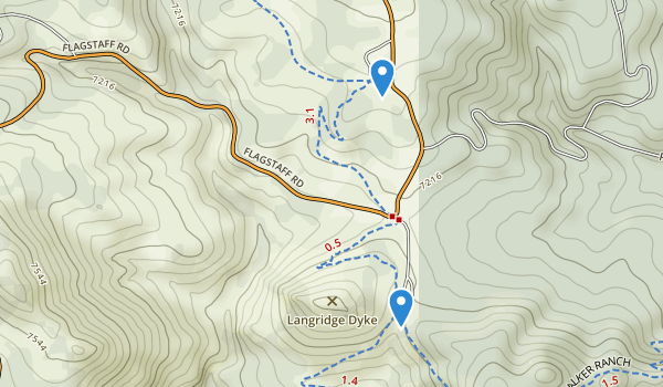 trail locations for Walker Ranch Park