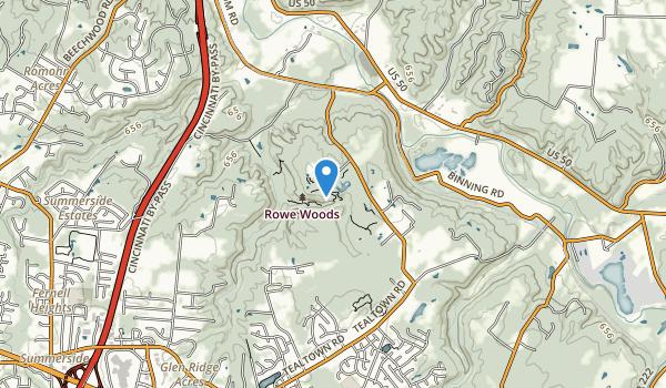 trail locations for Cincinnati Nature Center