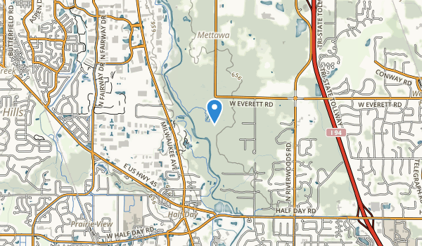 Daniel Wright Forest Preserve Map