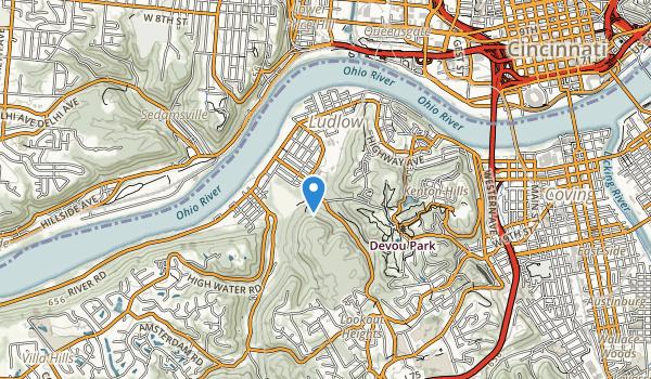 trail locations for Devou Park
