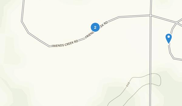 Friends Creek County Park Map