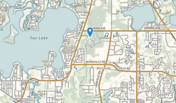 trail locations for Grant Woods Forest Preserve