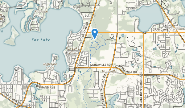 Grant Woods Forest Preserve Map