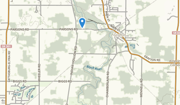trail locations for Indian Hollow Metro Park