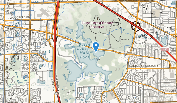 trail locations for Ned Brown Forest Preserve