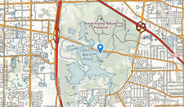 Ned Brown Forest Preserve Map