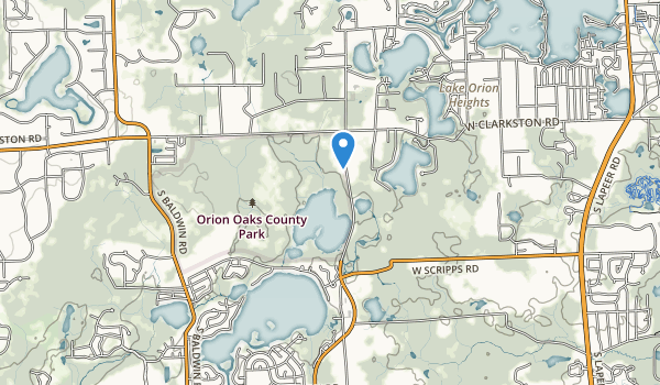 trail locations for Orion Oaks County Park