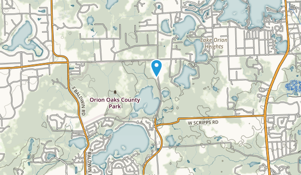 Orion Oaks County Park Map