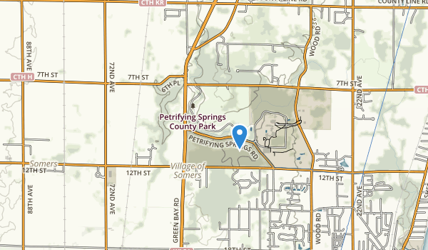 trail locations for Petrifying Springs Park