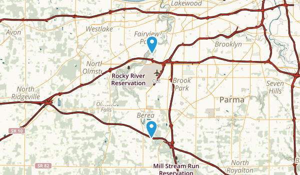 Rocky River Reservation Map