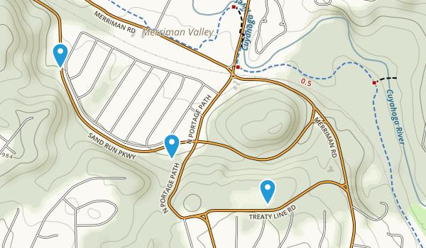 Sand Run Metro Park Map