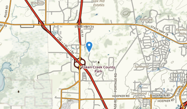 trail locations for Token Creek County Park