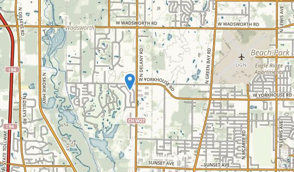 trail locations for Waukegan Savanna For Prsv