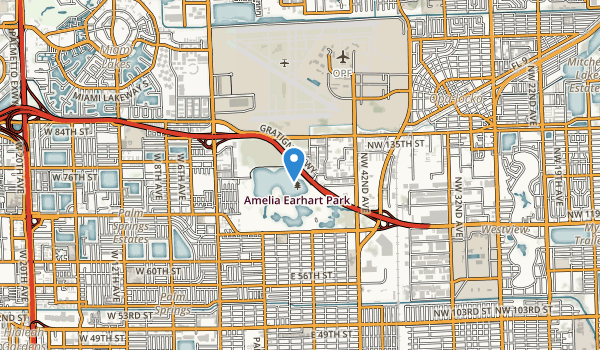 trail locations for Amelia Earhart Park