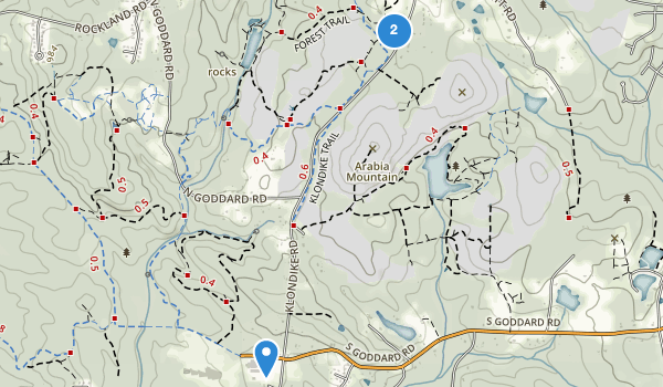 trail locations for Arabia Mountain Park