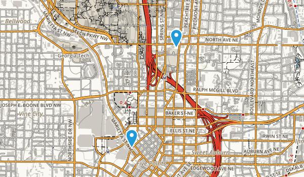 Centennial Olympic Park Map