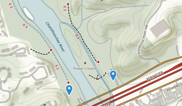 trail locations for Cochran Shoals Park