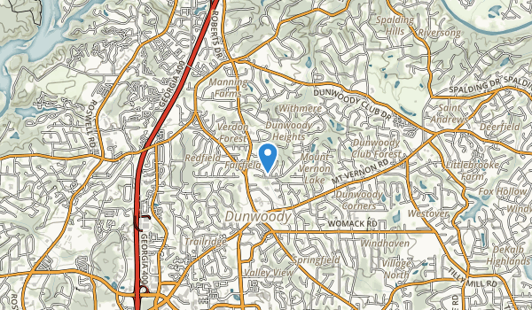 trail locations for Dunwoody Park