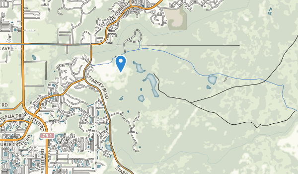 trail locations for J B Starkey Wilderness Park