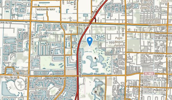 Okeeheelee County Park Map