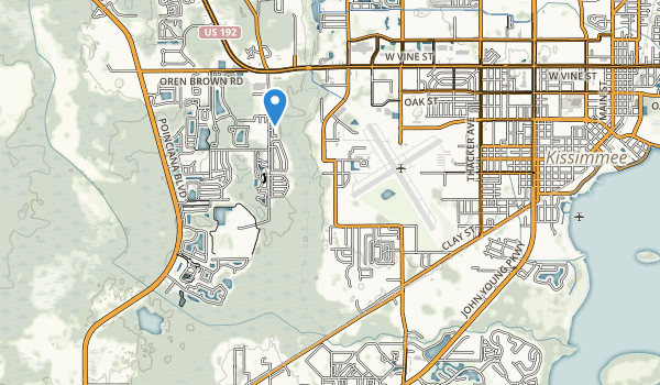 trail locations for Oren Brown Park