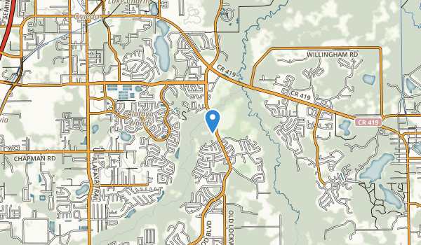 trail locations for Oviedo Riverside Park