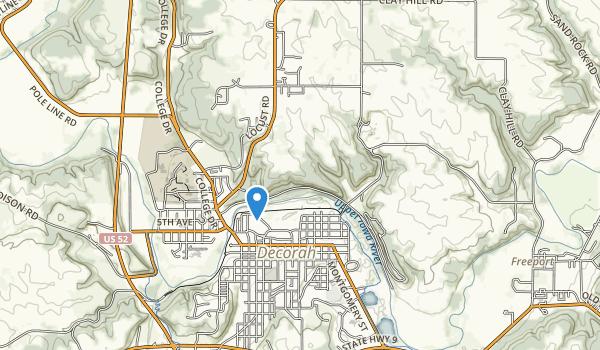 trail locations for Barnhart-Van Peenen Park