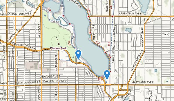 trail locations for Phalen-Keller Reg Park