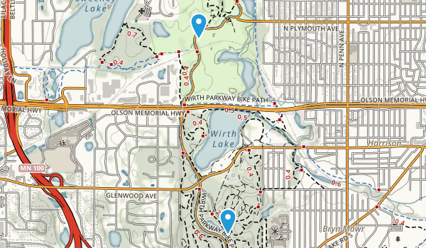 Theodore Wirth Park Map